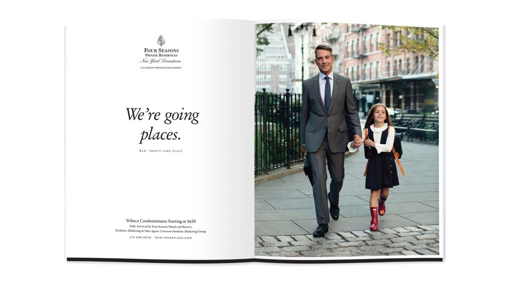 Advertising Design for 30 Park Place by The Four Seasons