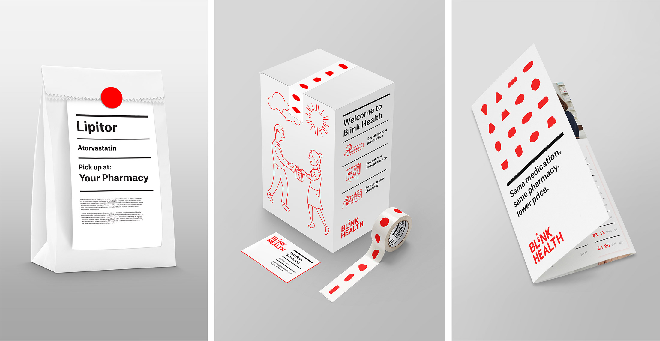 Collateral and Packaging Design for Blink Health