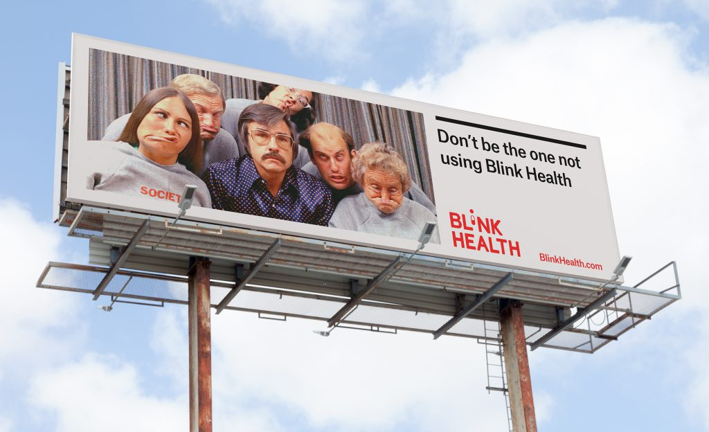 Blink Health Branded Billboard Design