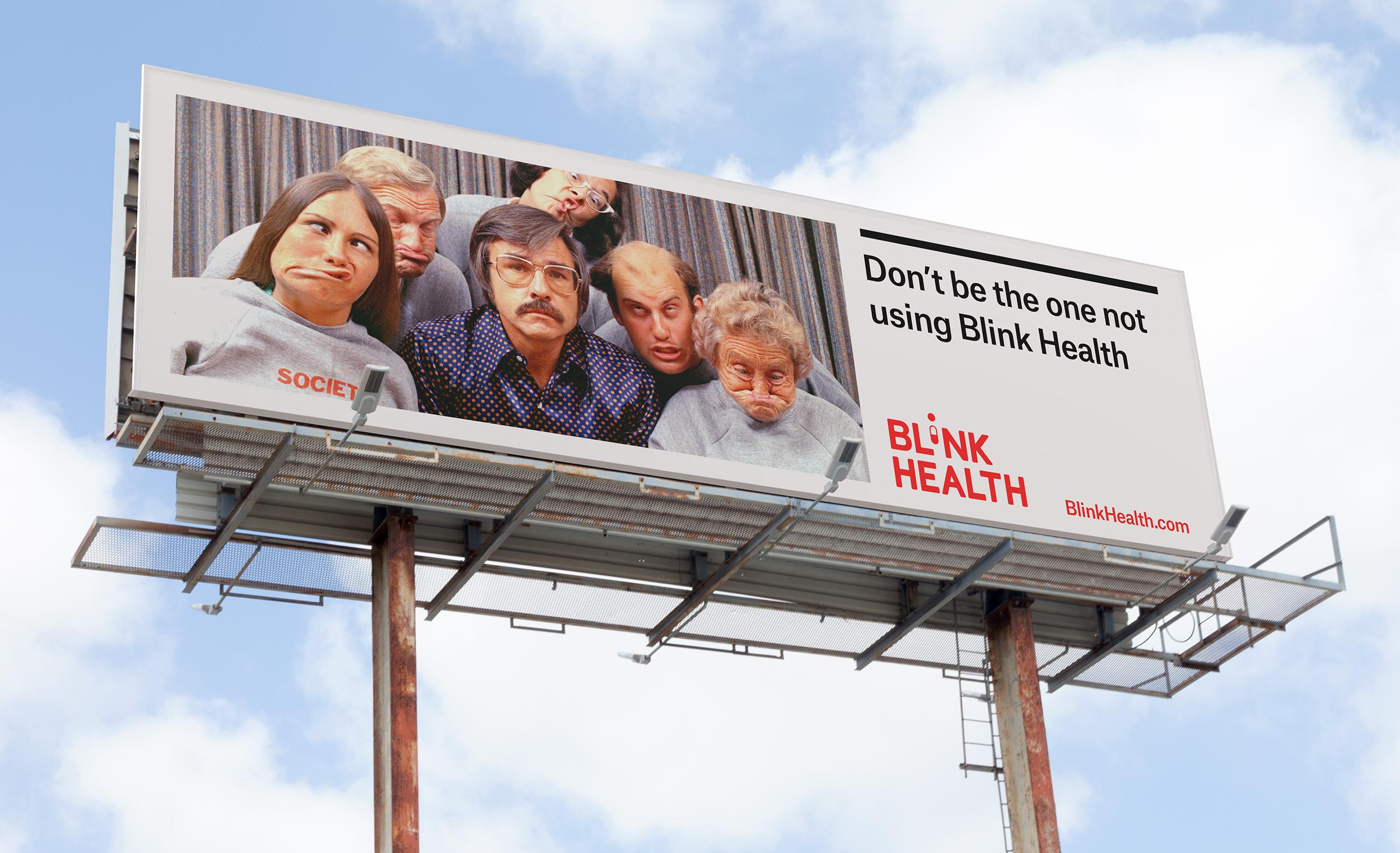 Blink Health Branded Billboard Design