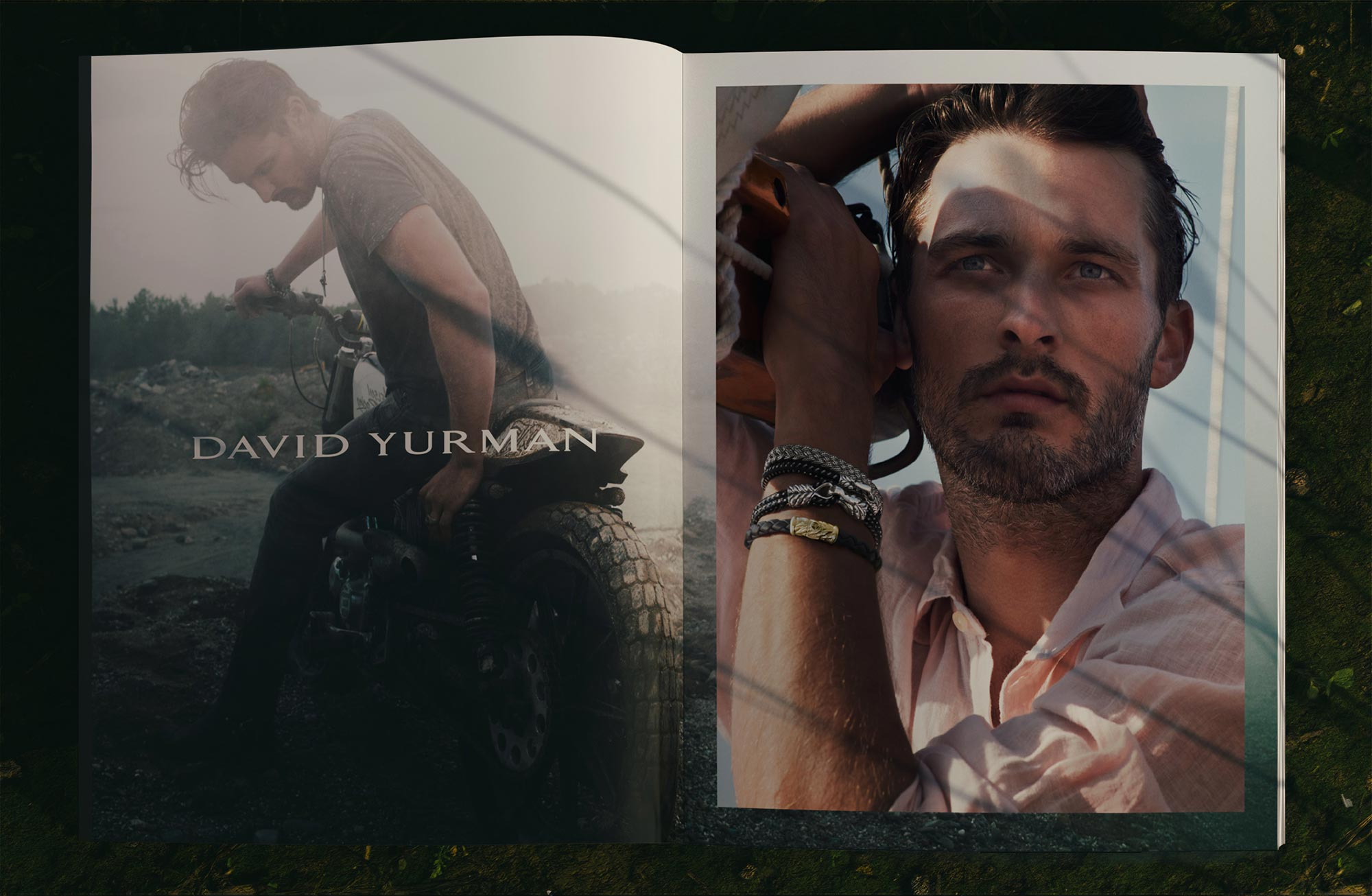 Art Direction and Graphic Design for David Yurman Featuring Ben Hill