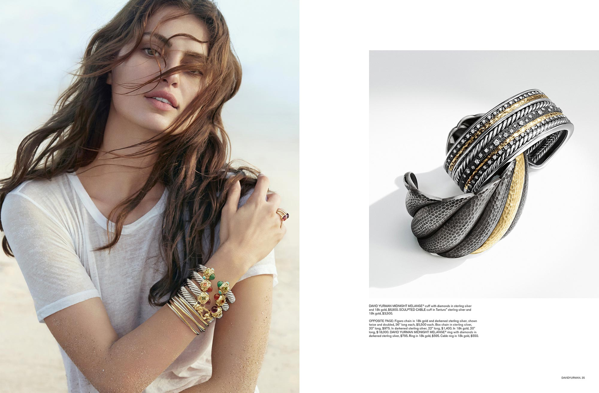 Art Direction and Graphic Design for David Yurman Featuring Catrinel Menghia