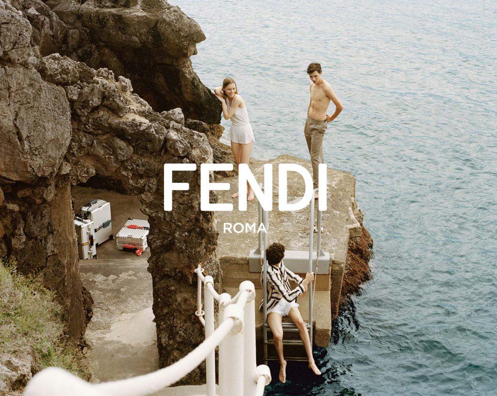 Fendi Identity Design as it appears in Fendi Advertising