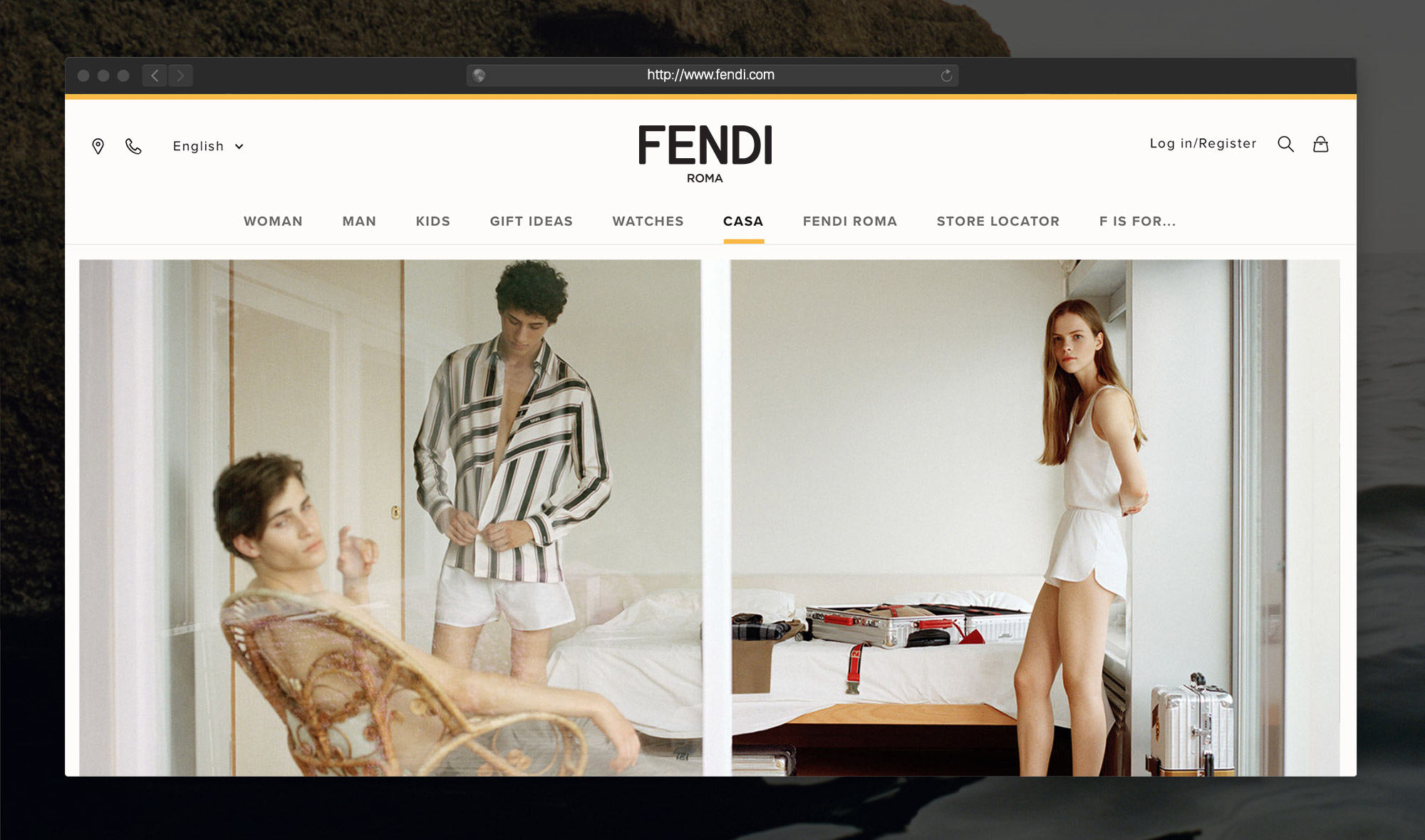 Fendi Identity Design as it Appears on Fendi.com