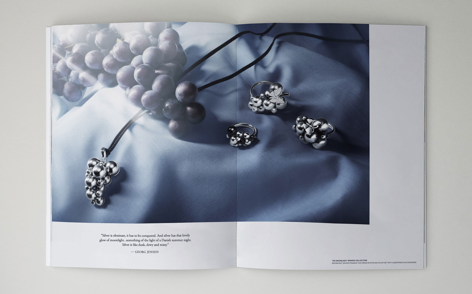Still Life Art Direction and Graphic Design for Georg Jensen, Shot by Ines Dieleman