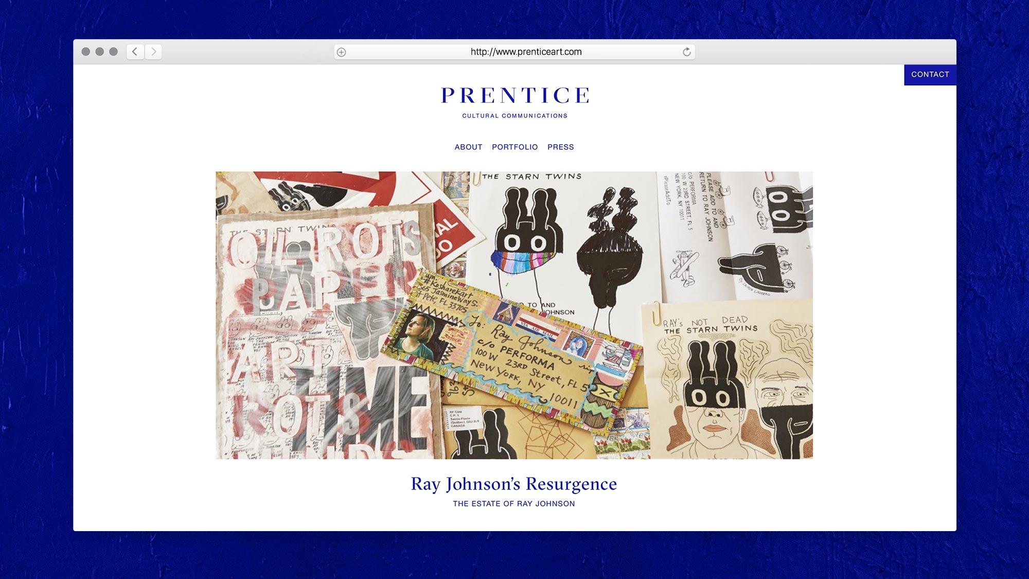Web Design for Prentice Cultural Communications