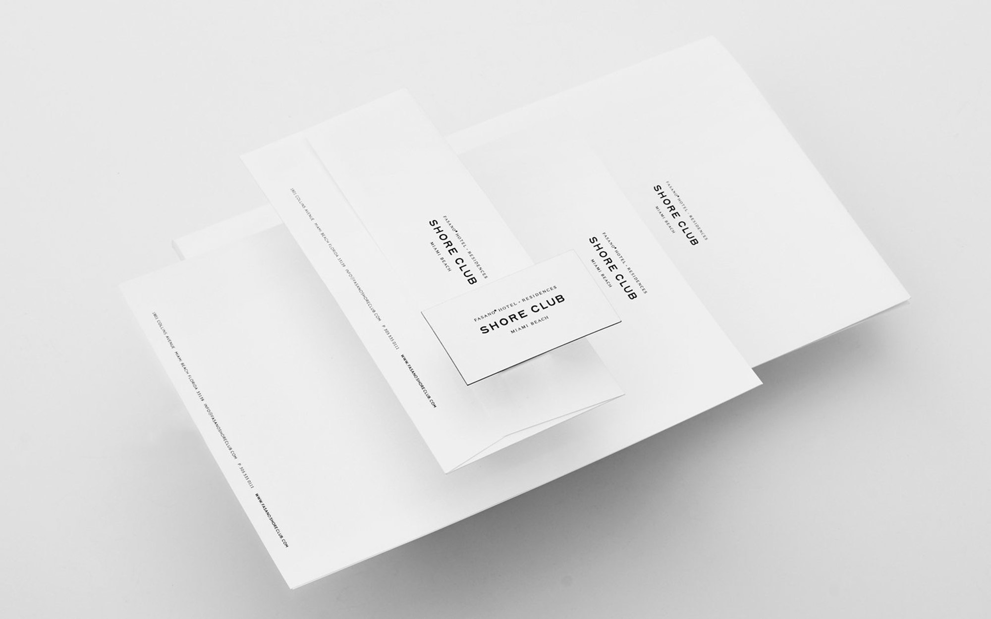 Collateral and Identity Design for The Shore Club