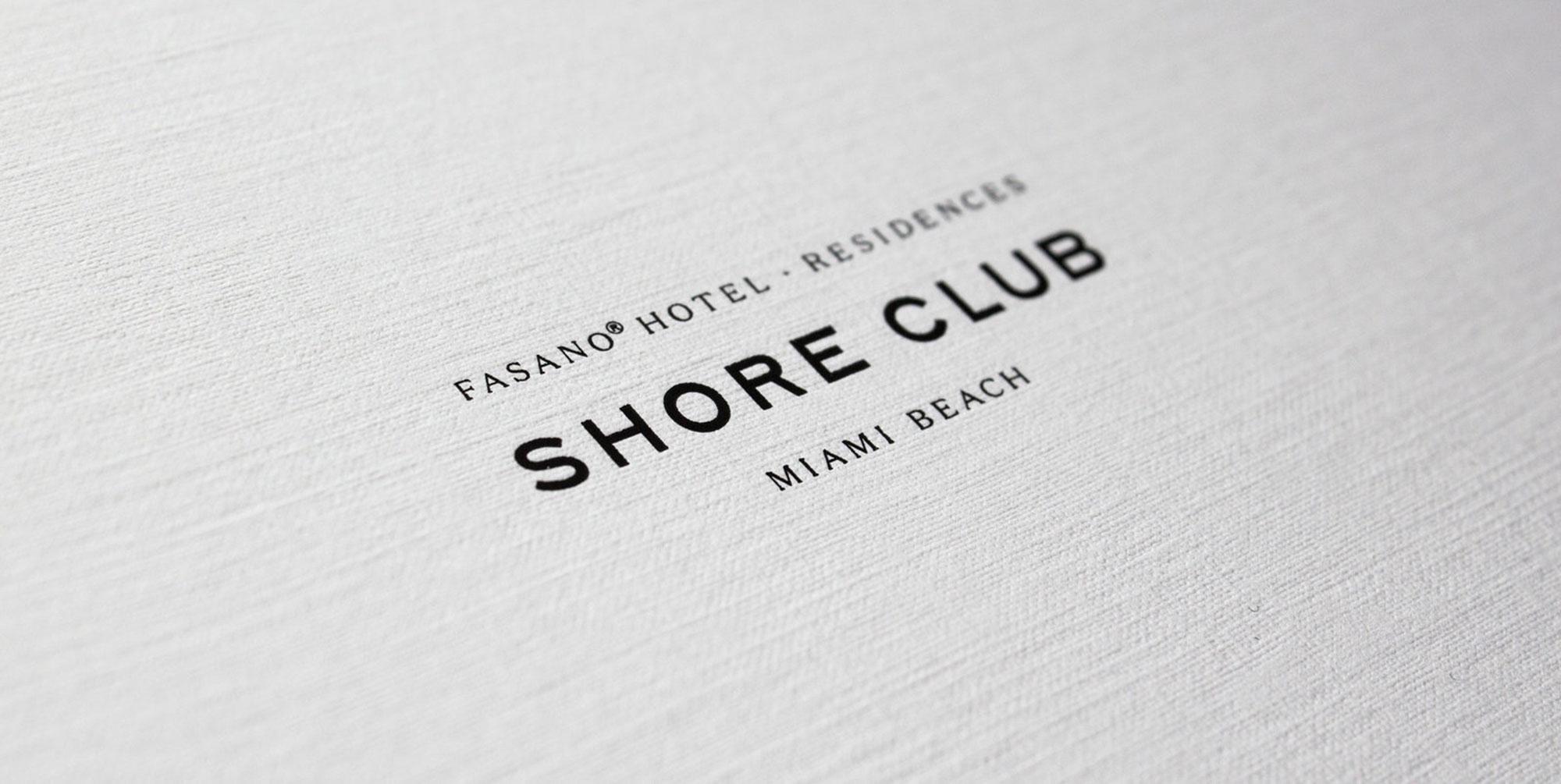 Identity Design for The Shore Club