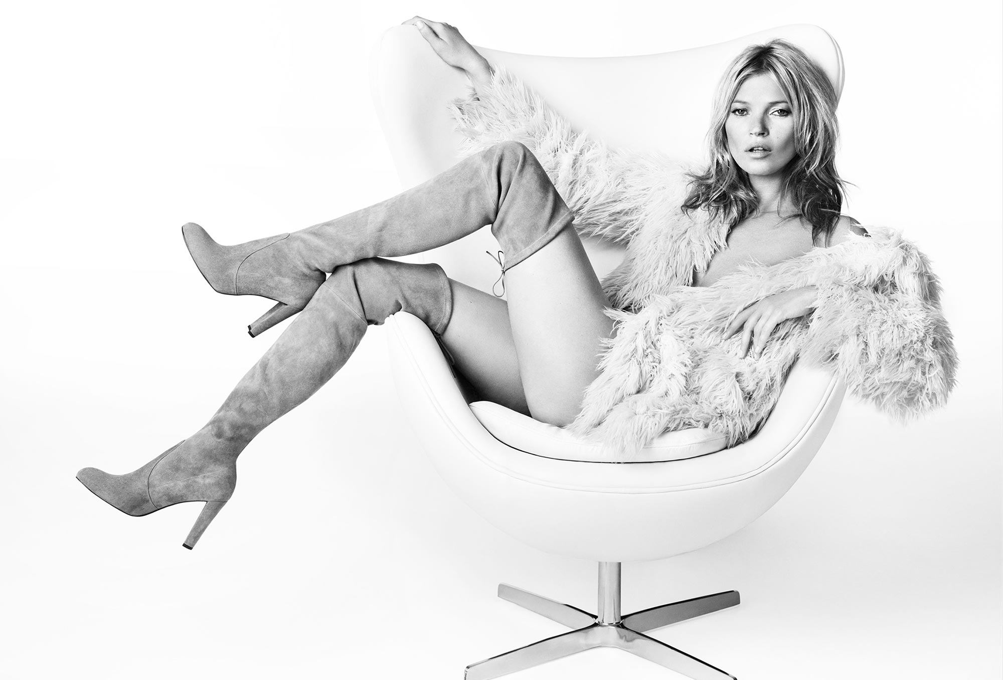 Art Direction of model Kate Moss for Shoe Brand Stuart Weitzman