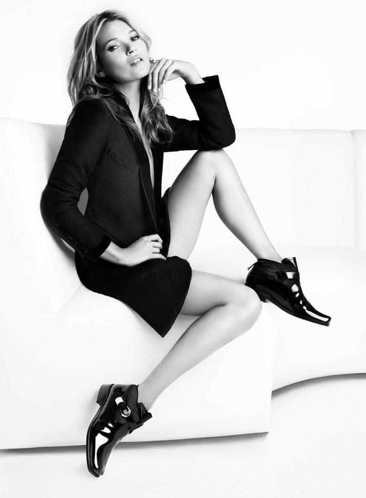 Art Direction of model Kate Moss for Shoe Brand Stuart Weitzman