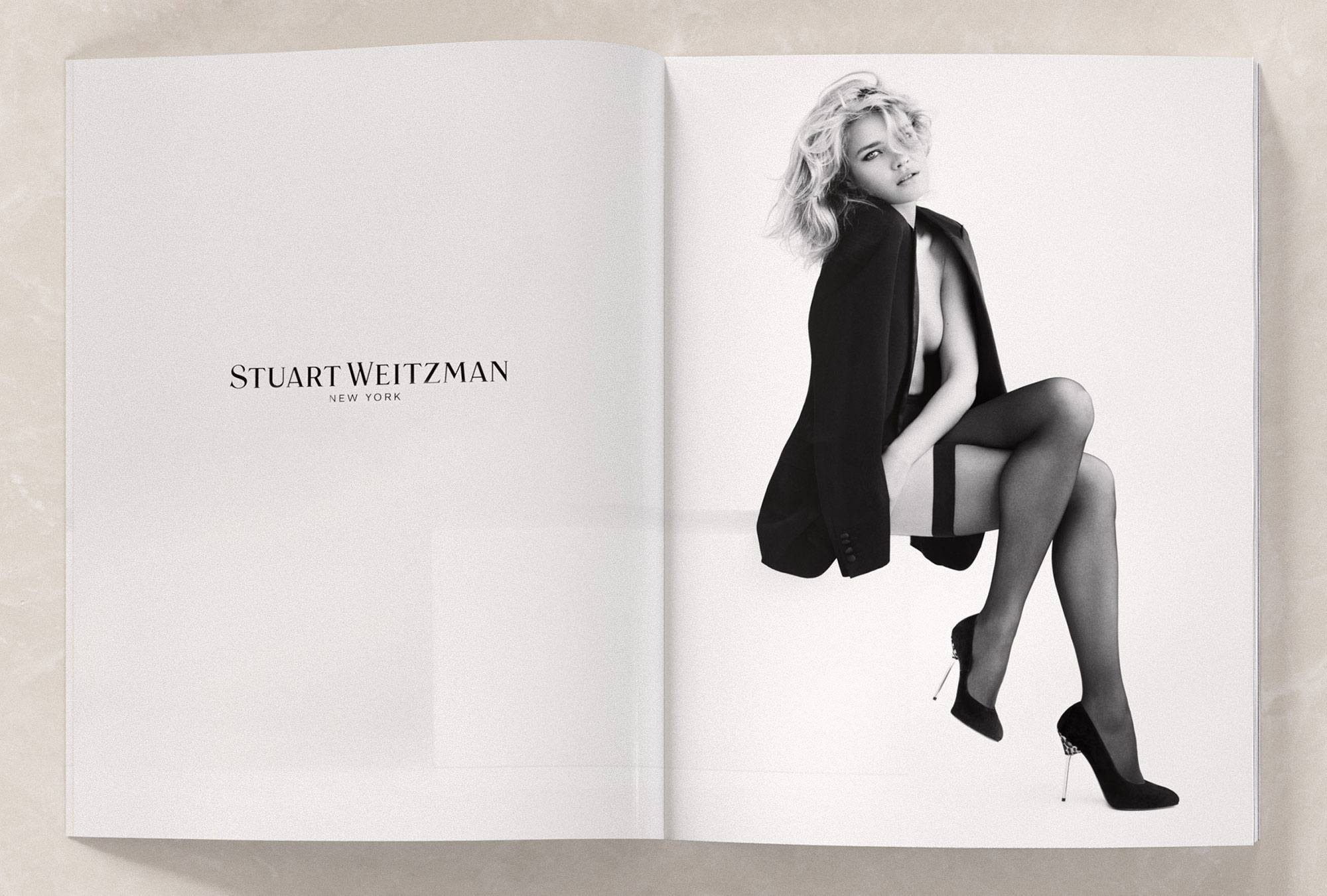 Art Direction of model Natalia Vodianova for Shoe Brand Stuart Weitzman