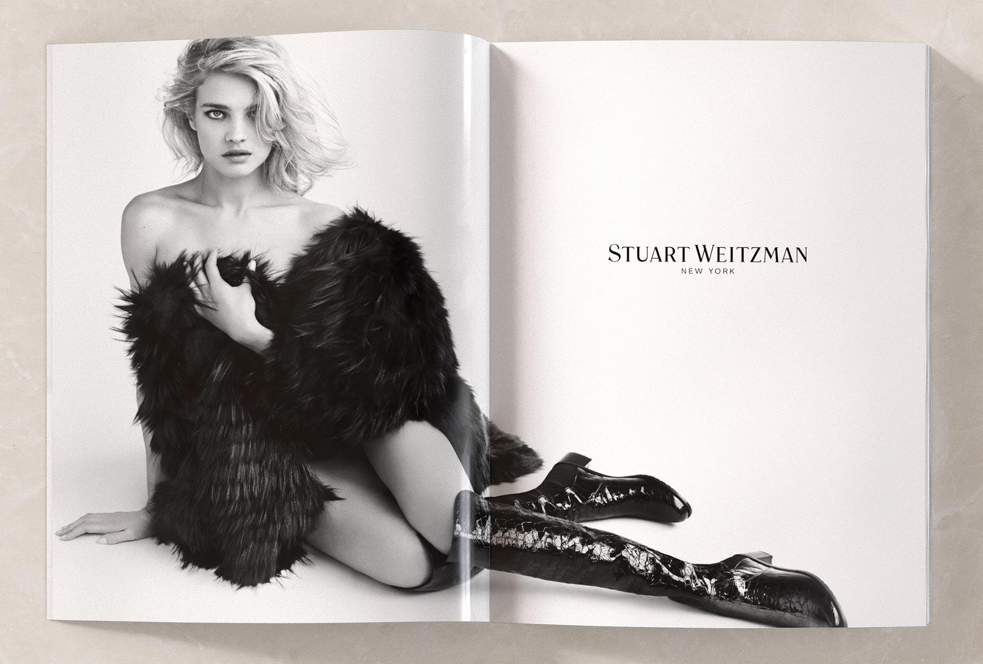 Art Direction of model Natalia Vodianova for Shoe Brand Stuart Weitzman