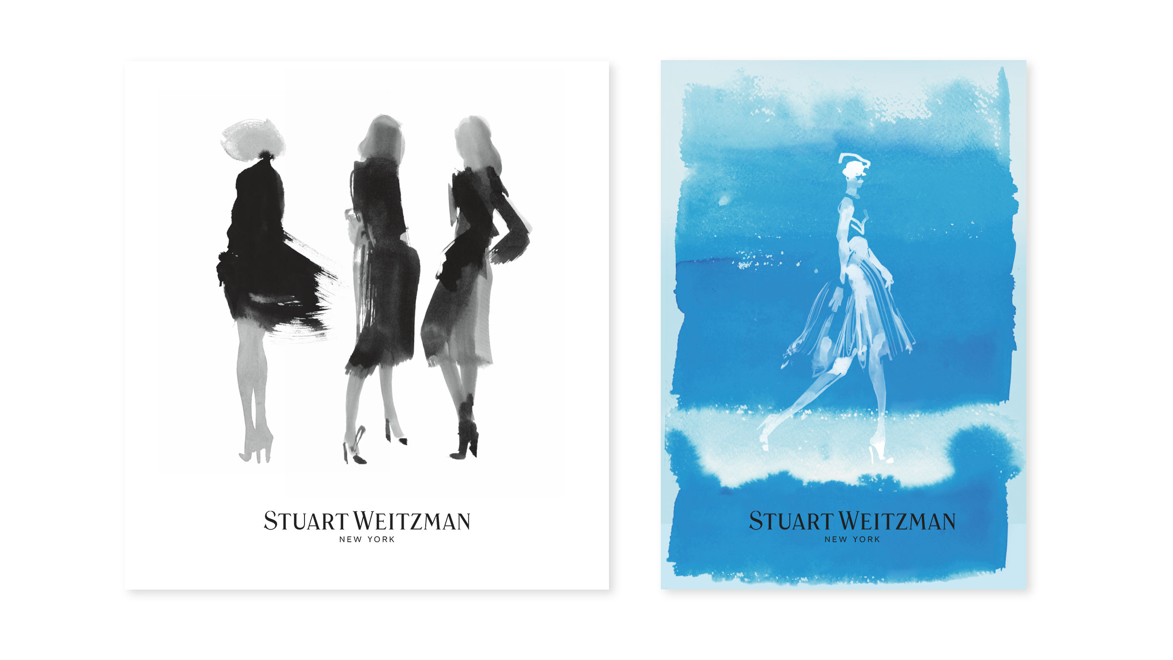 Illustration and Graphic Design for Shoe Brand Stuart Weitzman