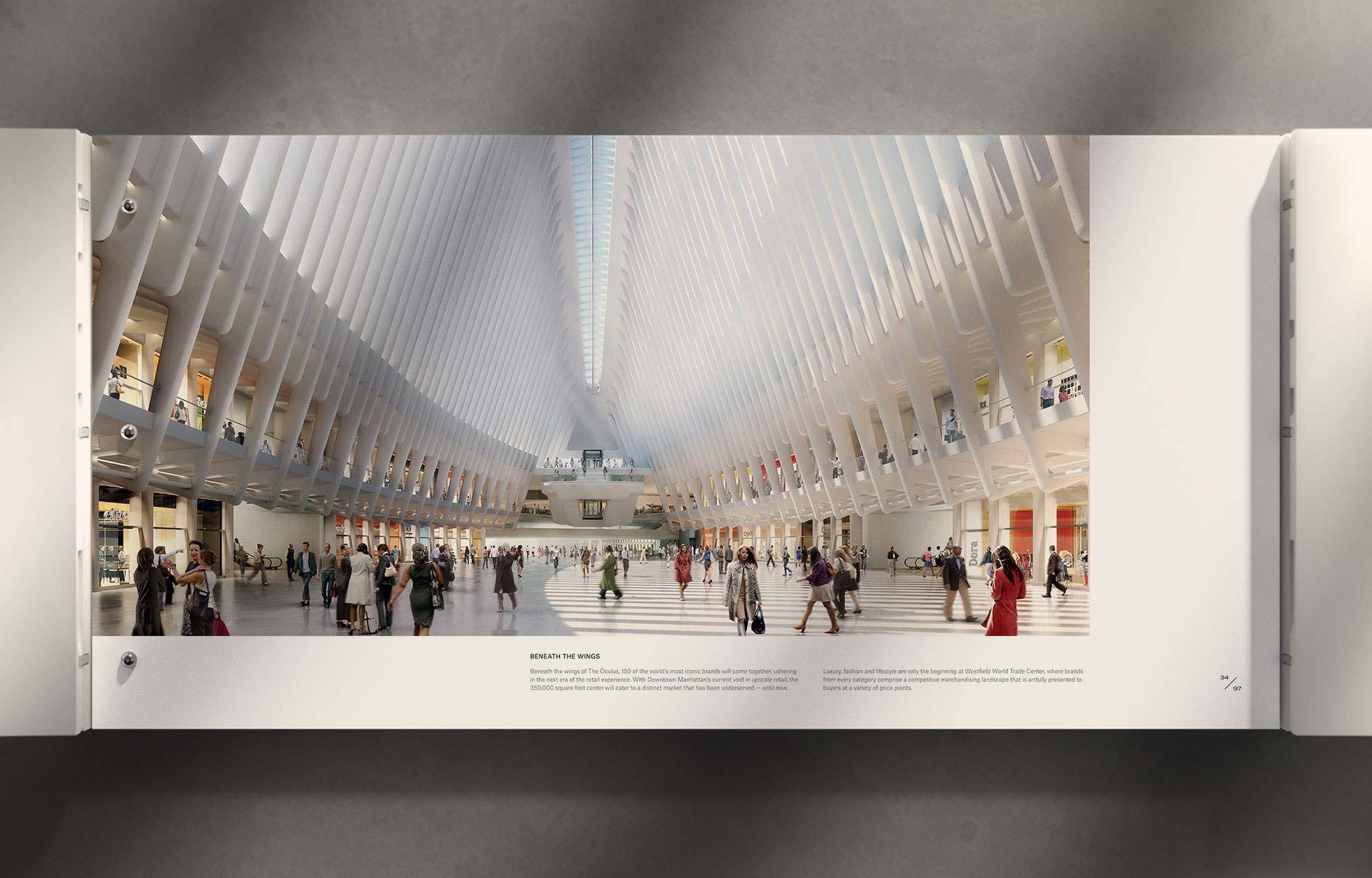 Brand Book design for Westfield World Trade Center