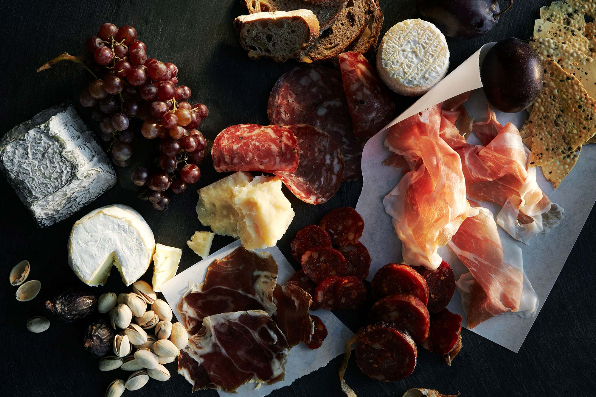Charcuterie image art direction for Westfield World Trade Center