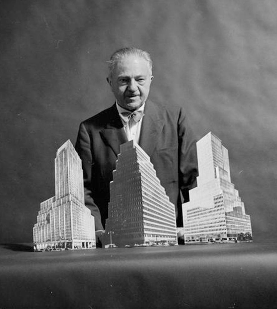 Ely Jacques Kahn, Architect of One Penn Plaza, and Several of his Building Models