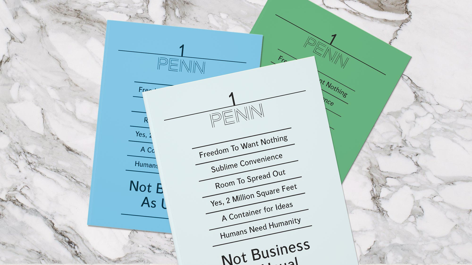 Brochure Graphic Design for One Penn Plaza