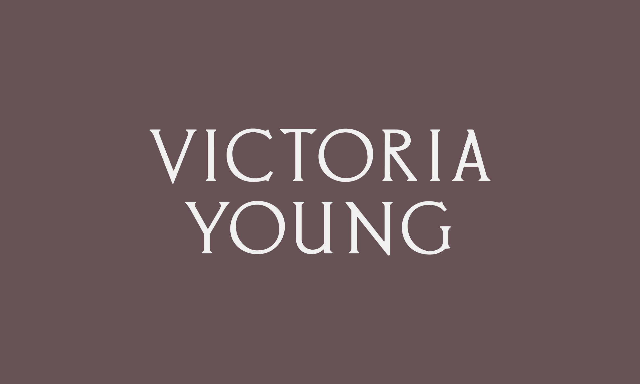 Identity Design for Victoria Young