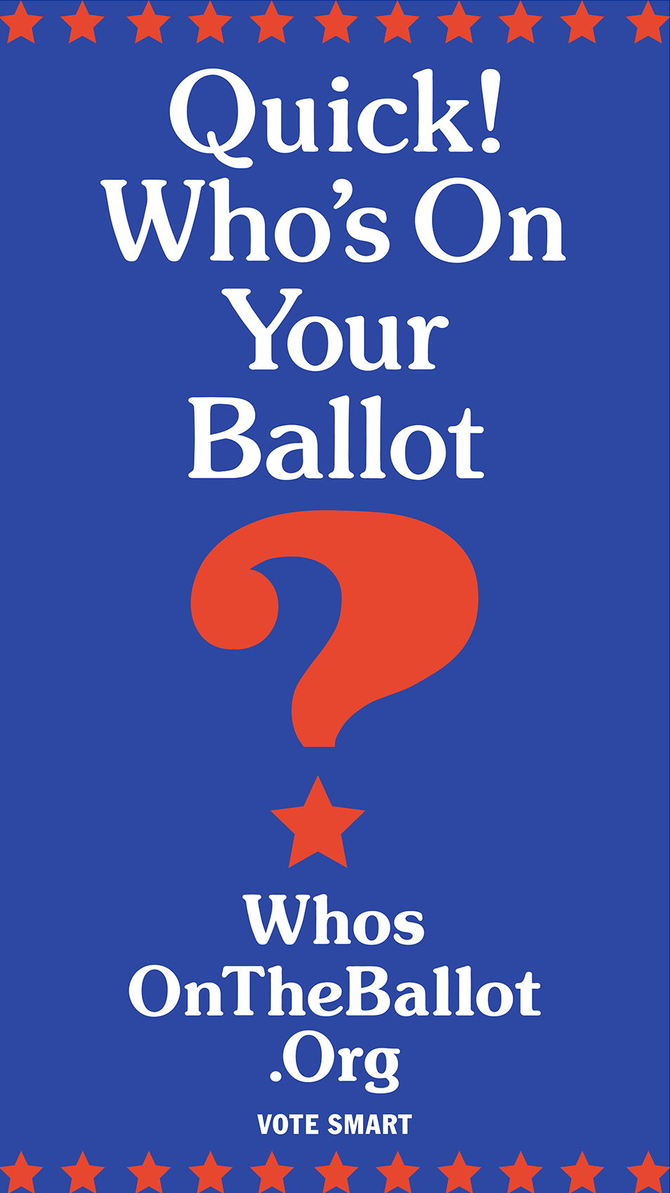 Digital Campaign for Voting Incentive Who's on the Ballot