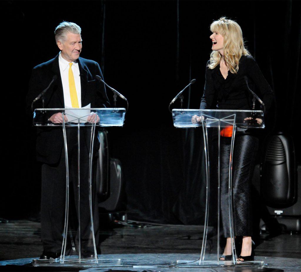 David Lynch and Laura Dern Speak at a David Lynch Foundation Event