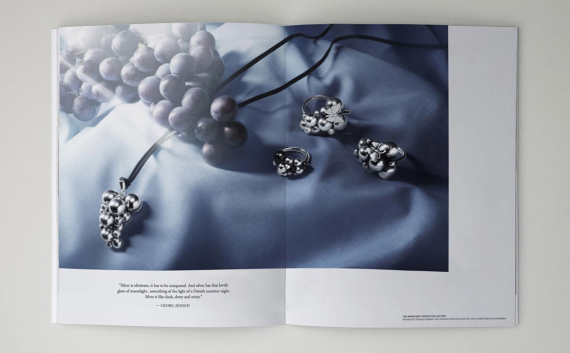 Graphic design for jewelry brand Georg Jensen