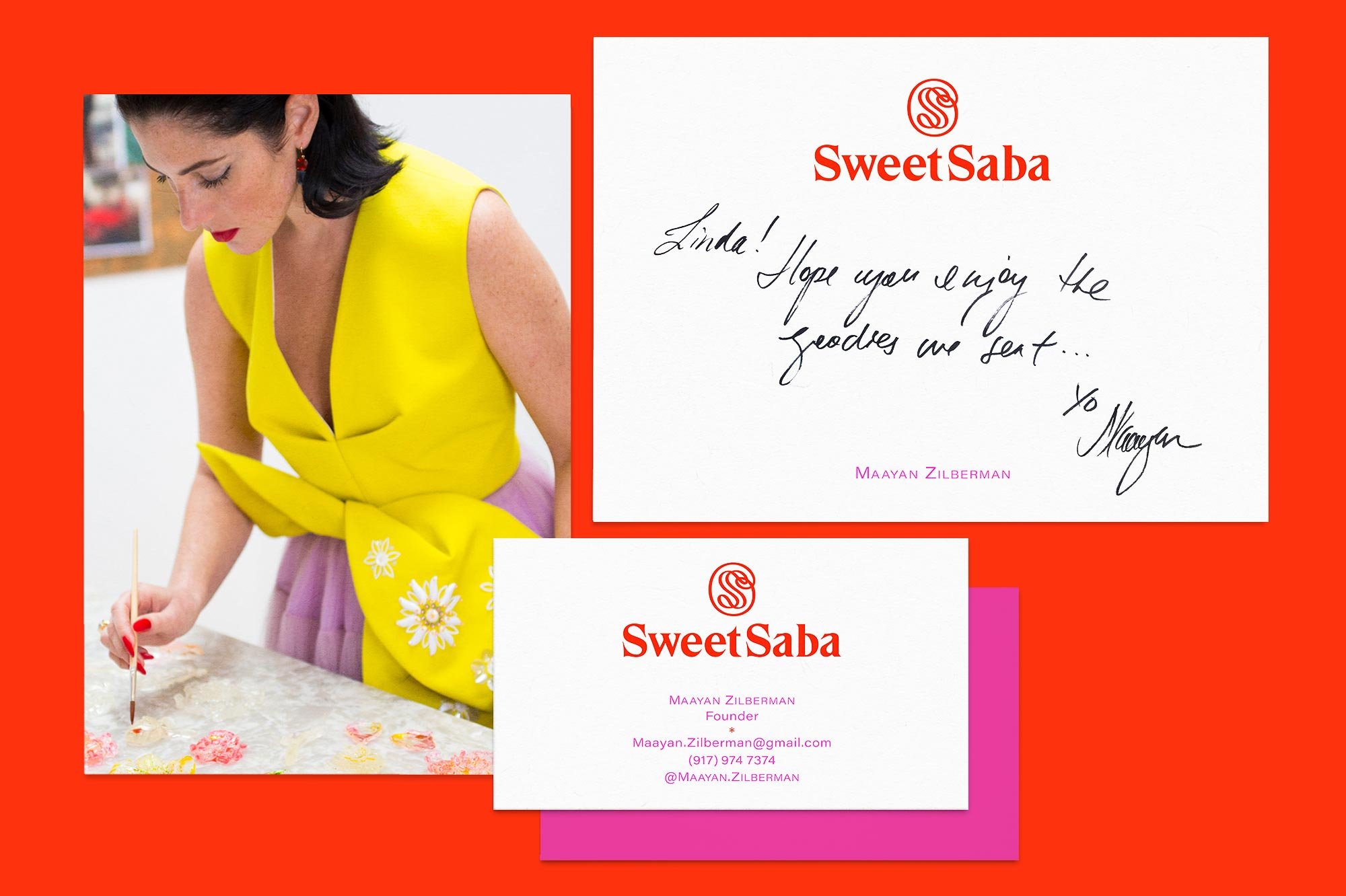 Art Direction and Identity Design for Sweet Saba