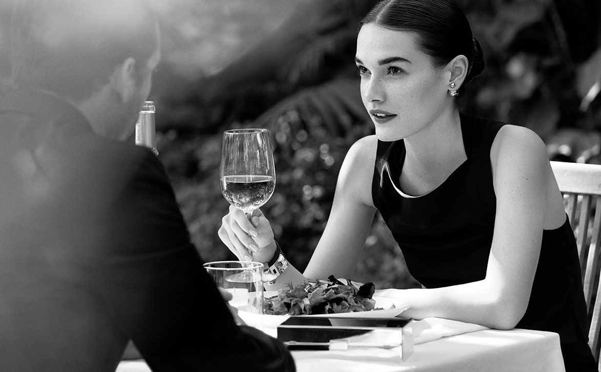 Art Direction of Woman Having Dinner for The Shore Club Miami Beach